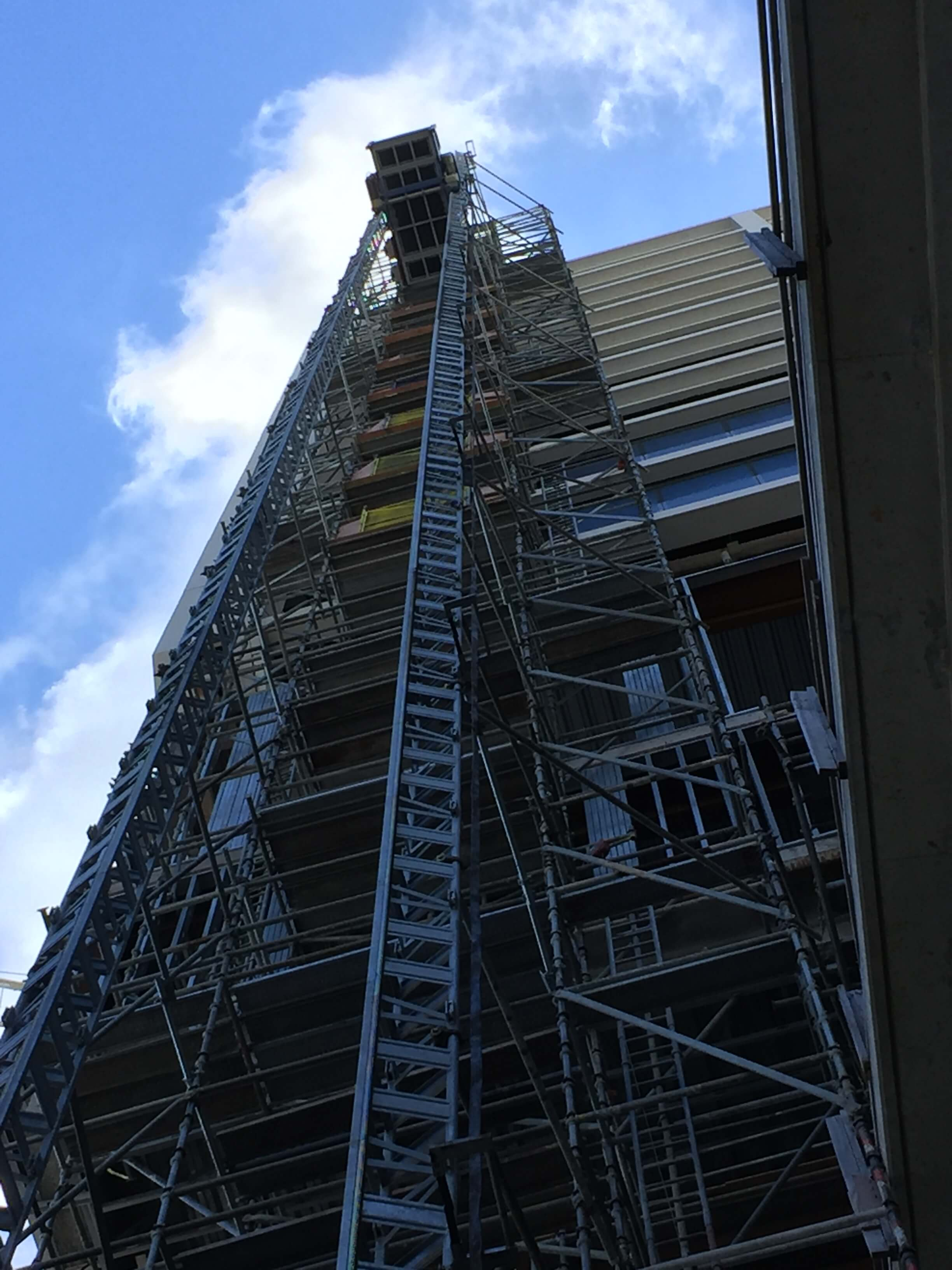 Multilift Construction Elevators - Twin Mast Building Hoist